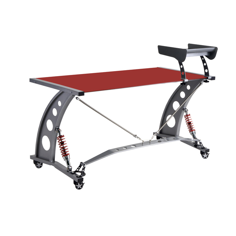 PitStop GT Spoiler Desk RED w/Spoiler Shelf
