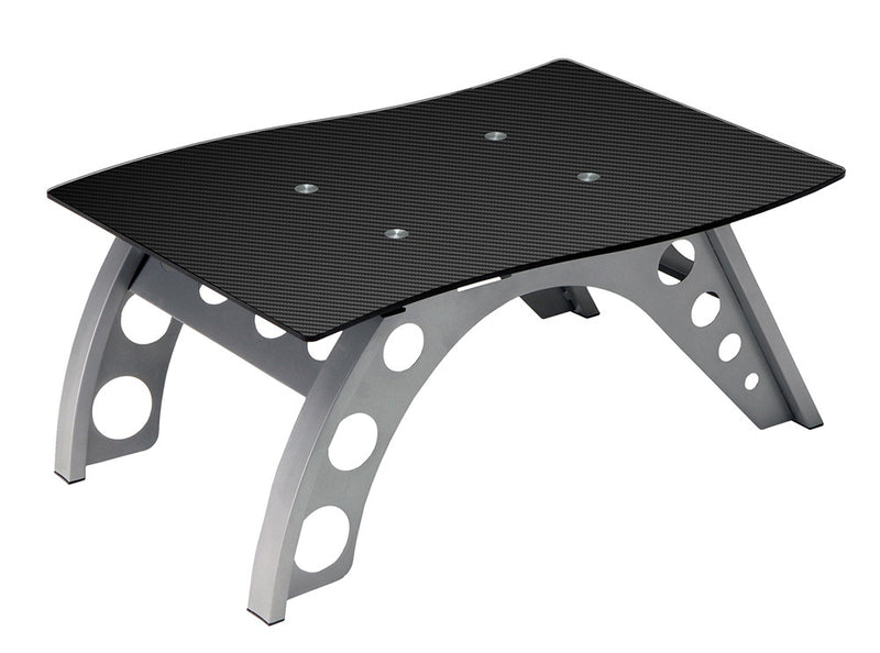 PitStop Chicane Side Table CARBON FIBER STYLE