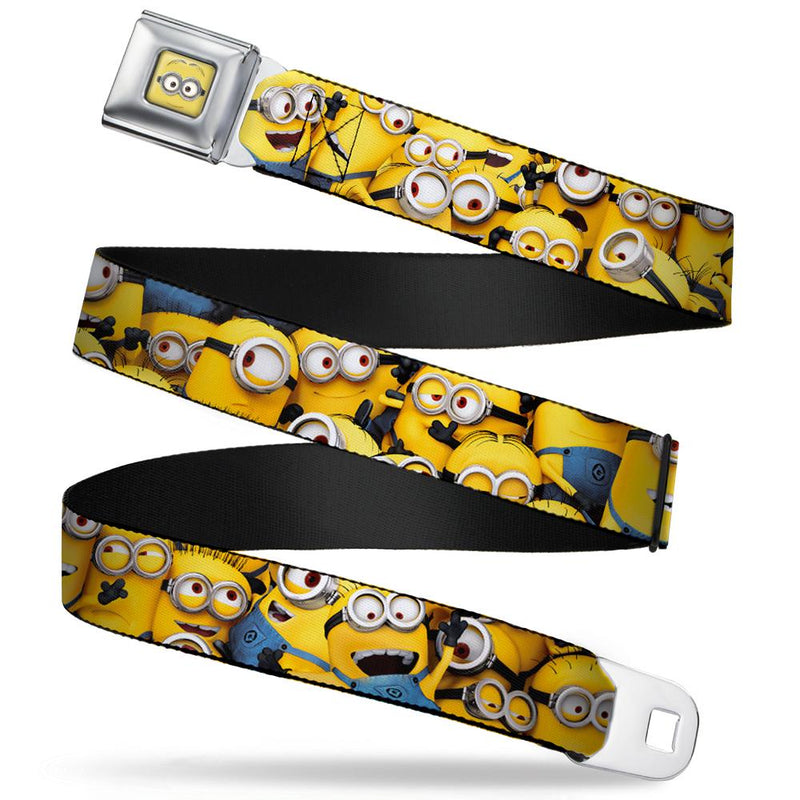 Seatbelt Belt - Minion Dave Face CLOSE-UP Full Color - Despicable Me Minions Stacked