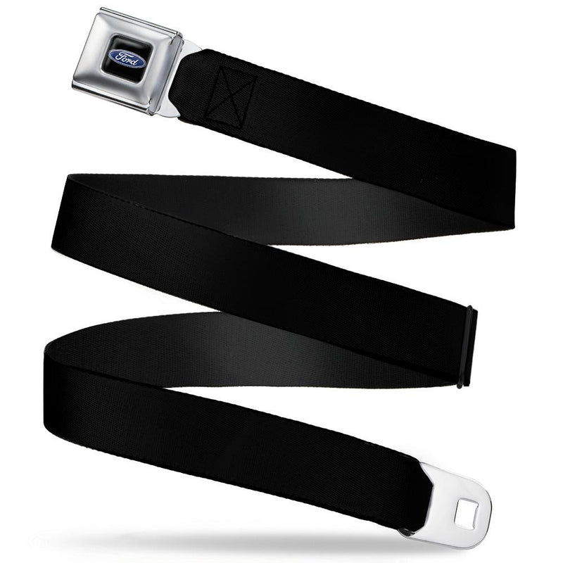Seatbelt Belt - Ford Oval Full Color Black/Blue