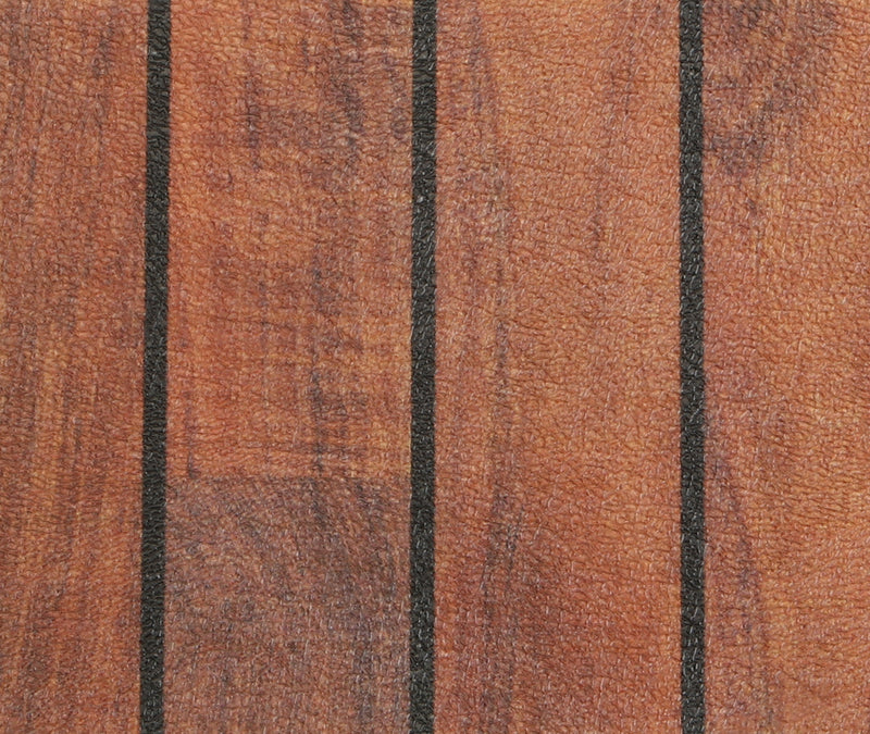 AquaTread: Teak & Dark Holly Vertical Lines