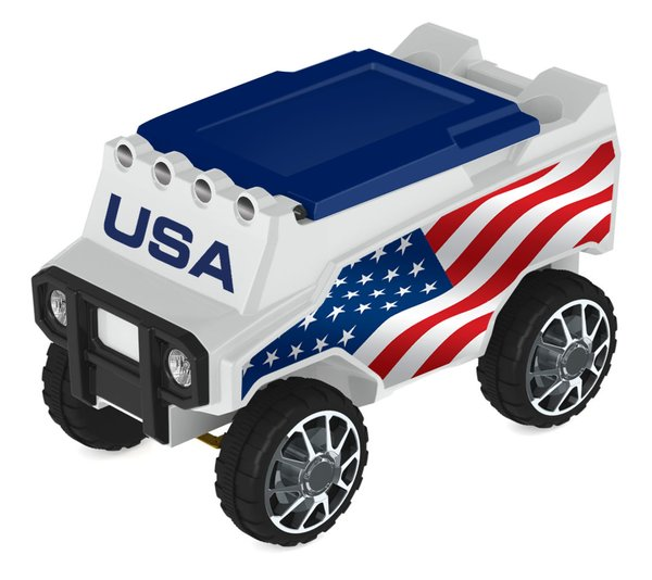 USA Flag Remote Control Rover Cooler