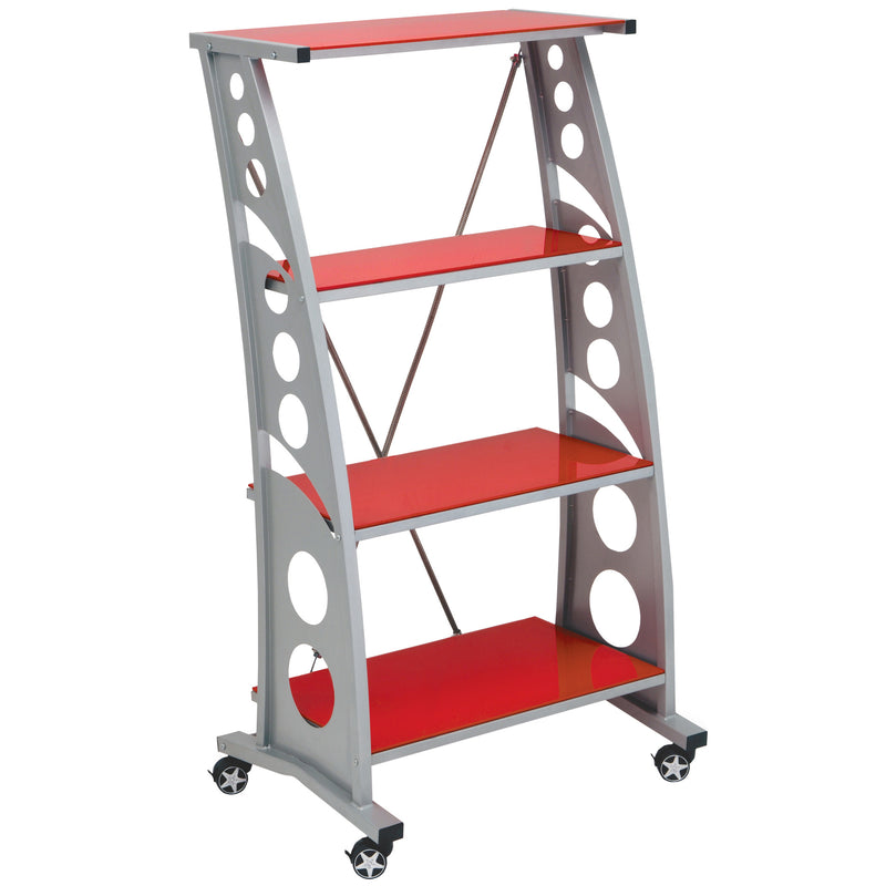 PitStop Chicane Bookshelf RED