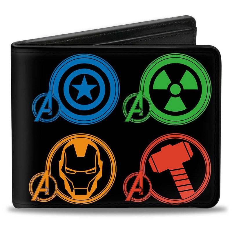 Marvel Avengers Superhero Logos Black/Multi Color