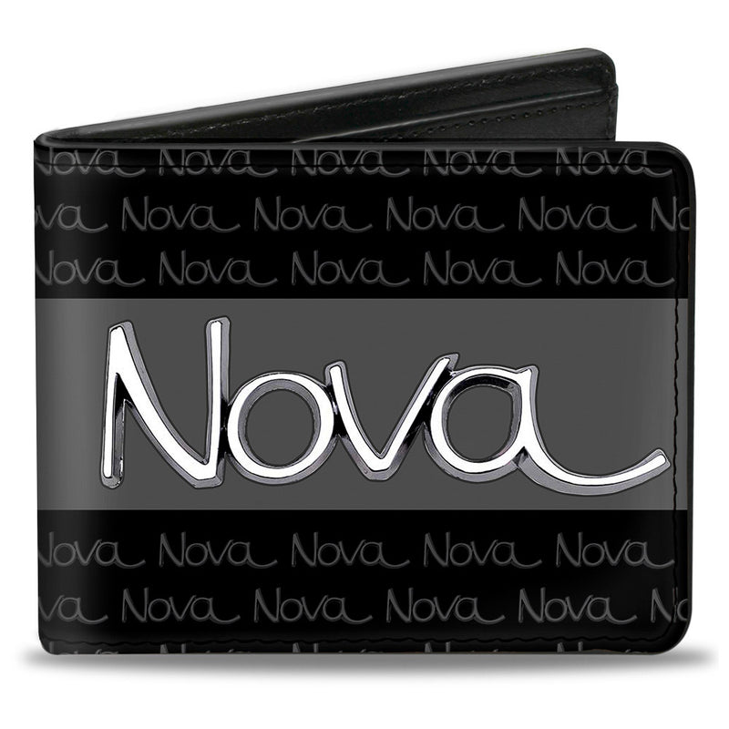 1968-72 NOVA Script Emblem Stripe/Repeat Black/Gray/Silver