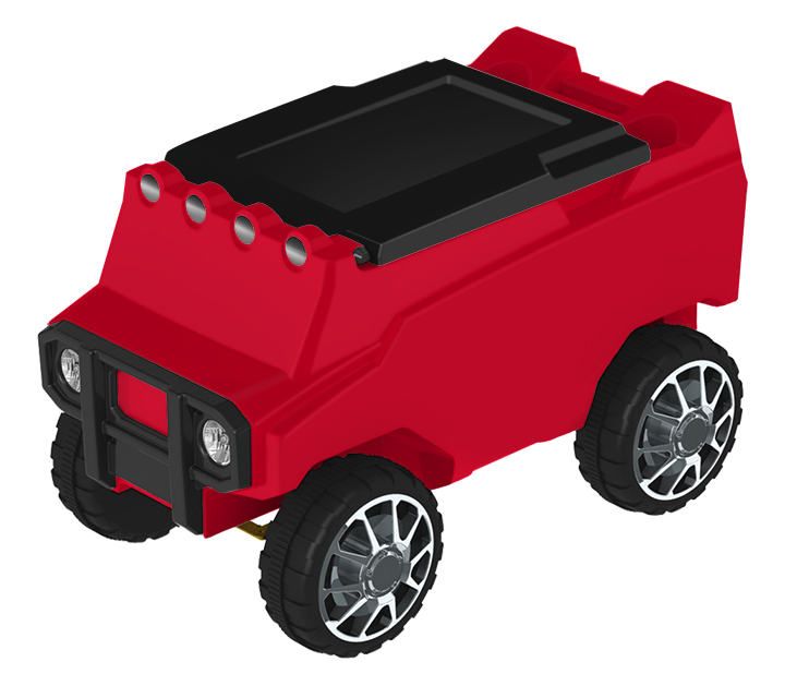 Remote Control Rover Cooler - Red