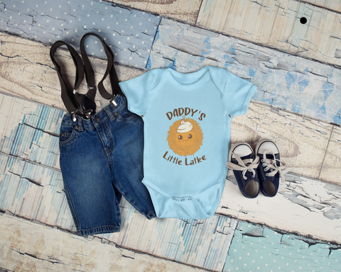 Daddy's Little Latke. Organic Baby Bodysuit