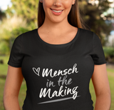 Mensch in the Making with Heart. Women's Maternity T-Shirt