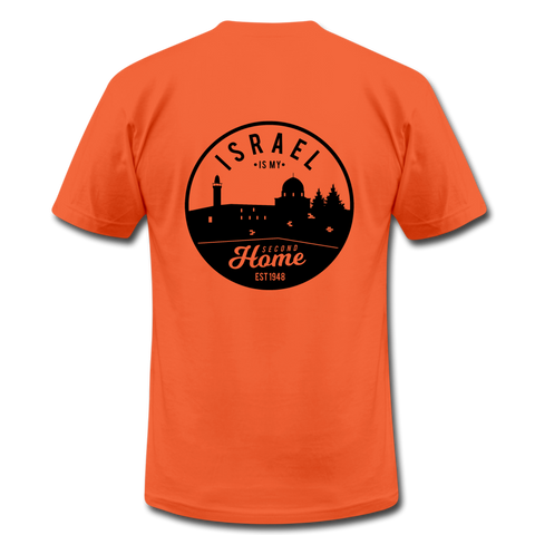 Israel is My Second Home Unisex Jersey T-Shirt (Back Design) - orange
