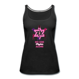 Women's Breast Cancer Awareness Tank Top. No One Fights Alone (N.O.F.A). - black