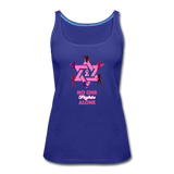 Women's Breast Cancer Awareness Tank Top. No One Fights Alone (N.O.F.A). - royal blue