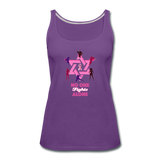 Women's Breast Cancer Awareness Tank Top. No One Fights Alone (N.O.F.A). - purple