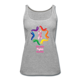 Women's Breast Cancer Awareness Tank Top. N.O.F.A. Rainbow - heather gray