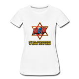 Superhero Jewish Mom T-Shirt. Not All Superheros Wear Capes - white