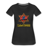 Superhero Jewish Mom T-Shirt. Not All Superheros Wear Capes - black