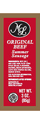 3 oz. Original Beef Sausage - Red Label