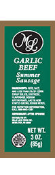 3 oz. Garlic Beef Summer Sausage - Green Label