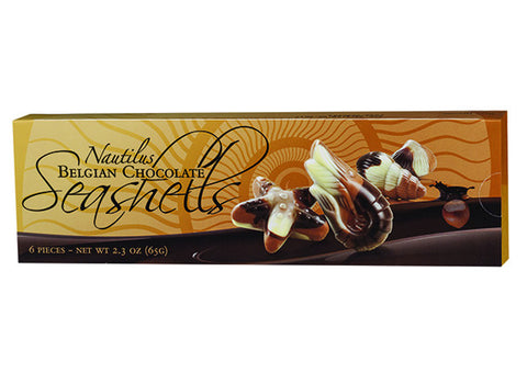2.3 oz. Belgian Chocolate Seashells *NEW ITEM*