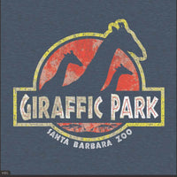Giraffic Park Adult T-Shirt Heather Blue