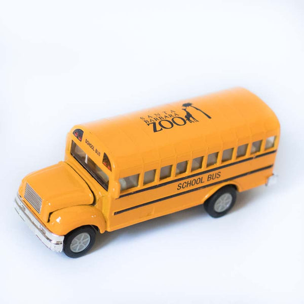 Santa Barbara Zoo Pullback School Bus Toy