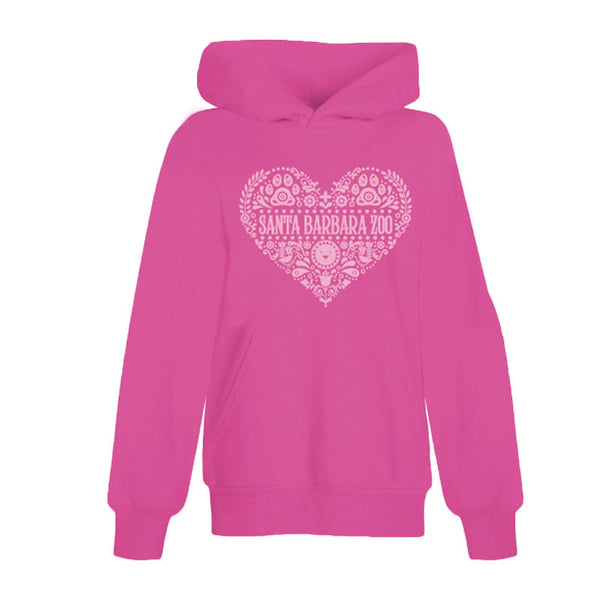 Folk Heart Youth Hoodie Sweatshirt Pink