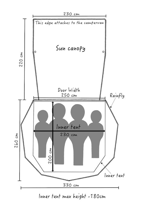 SheltaPod floor plan and dimensions