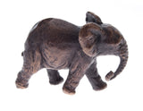 Butler & Peach Detailed Small Solid Bronze Elephant - bronzebarngallery.com