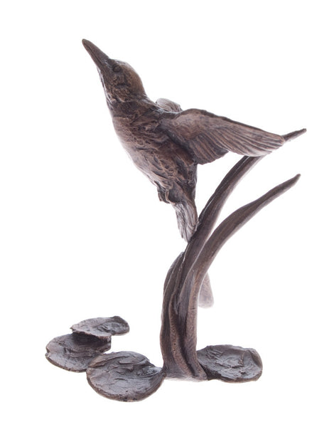 Butler & Peach Detailed Small Solid Bronze Kingfisher - bronzebarngallery.com