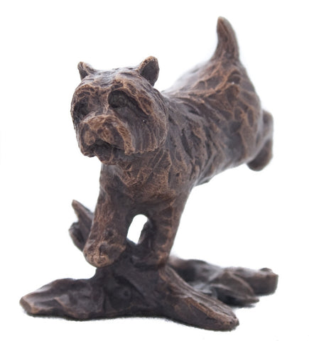 Butler & Peach Detailed Small Solid Bronze Westie - bronzebarngallery.com