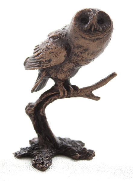 Butler & Peach Detailed Small Solid Tawny Owl - bronzebarngallery.com