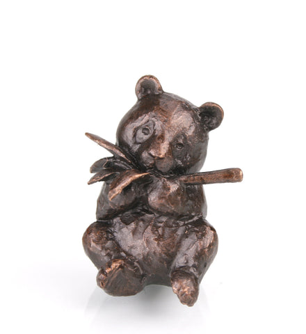 Butler & Peach Detailed Small Solid Bronze Panda