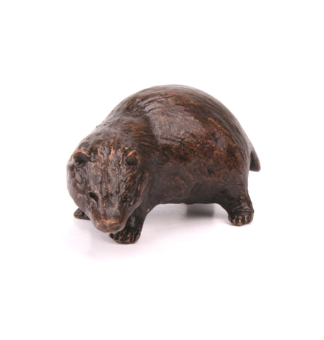 Butler & Peach Detailed Small Solid Bronze Badger - bronzebarngallery.com