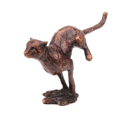 Butler & Peach Detailed Small Solid Bronze Cheetah - bronzebarngallery.com