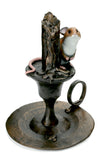 Mouse on Candlestick Hand Painted Cold Cast Bronze by Michael Simpson