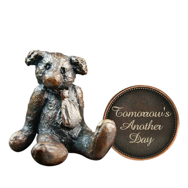 Hot Cast Bronze Penny Bear 2015 - Tomorrows Another Day - bronzebarngallery.com