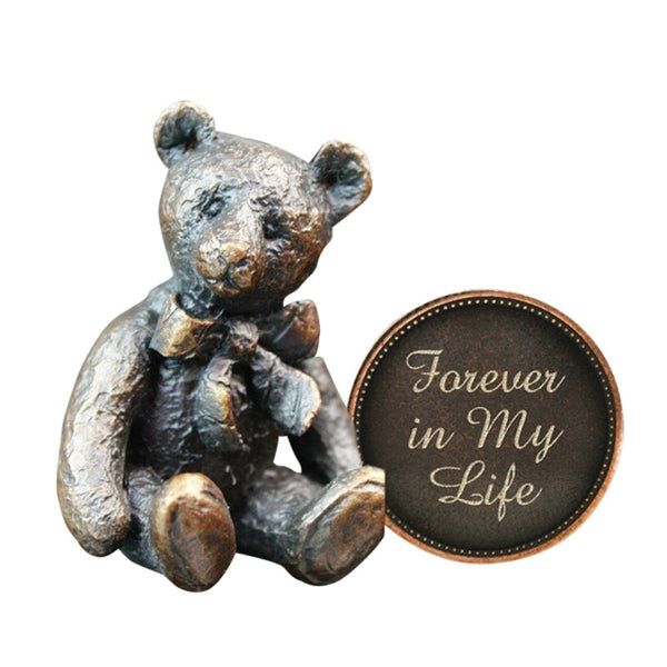 Hot Cast Bronze Penny Bear 2015 - Welcome to the World Baby Gift - bronzebarngallery.com