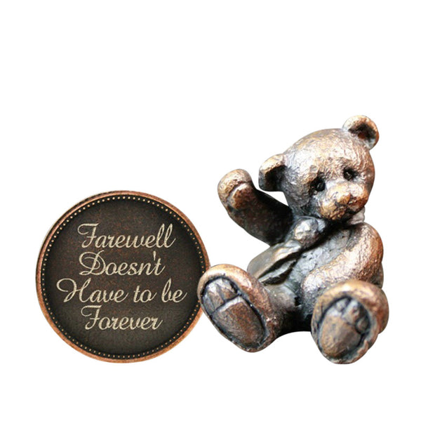 Hot Cast Bronze Penny Bear 2015 - Farewell Doesnt Have to be Forever - bronzebarngallery.com
