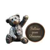 Hot Cast Bronze Penny Bear 2015 - Follow your Dreams - bronzebarngallery.com