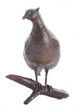 Limited Ed Hot Cast Bronze Sculpture Small Pheasant - bronzebarngallery.com