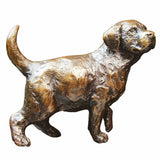 Solid Bronze Labrador Puppy Standing Michael Simpson Limited Edition 250 - bronzebarngallery.com
