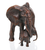 Limited Edition 100 Hot Cast Solid Bronze Sculpture Elephant Cow and Calf - bronzebarngallery.com