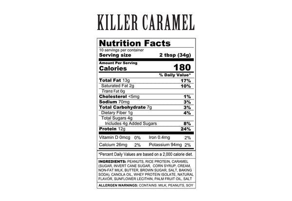 Killer Caramel - Non-Caffeinated - 2oz