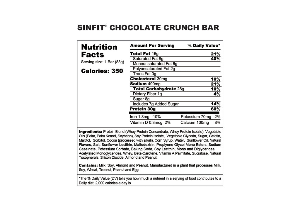 SINFIT® - Chocolate Crunch Bar