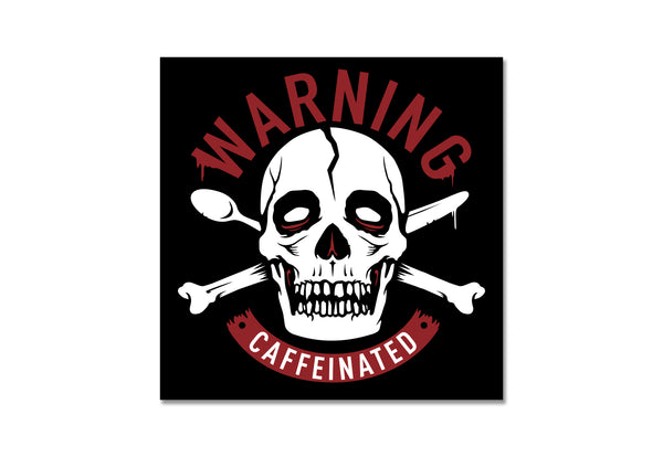 Warning Caffeinated Sticker