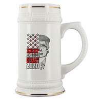 Keep America Great 2020 Trump Elections Beer Stein Mug - Support Donald Fathers Mothers Day Christmas Gift July 4th Patriotic Alcohol Coffee Cup - Luxurious Inspirations