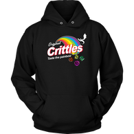 Crittles Taste The Painbow Hoodie - Funny DND Parody Fan Design