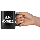 69 Percent Angel Funny Sexual Mug - Black 11 sex halo devil oz Coffee Cup - Luxurious Inspirations