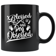 Blessed and dog obsessed love animal coffee cup mug - Luxurious Inspirations
