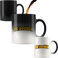 Ok Boomer Flame Parody Mug - Funny Millennial Meme Trend Trending Humor Funny Gen X Magic Color Changing Coffee Cup - Luxurious Inspirations