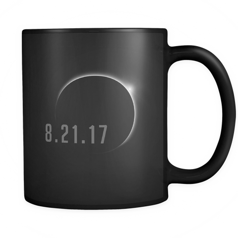 Total Solar Eclipse August 21 2017 Mug - USA Black Coffee Cup